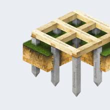 Фундамент с обвязкой брусом