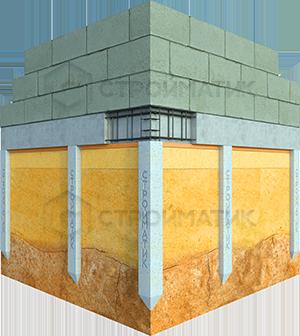 Фундамент для дома или бани на жб сваях