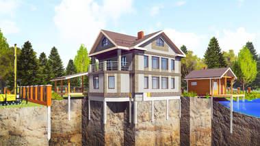 Надежные фундаменты на Ж/Б сваях для домов, бань и других построек