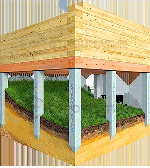 Фундамент для участка на склоне на жб сваях