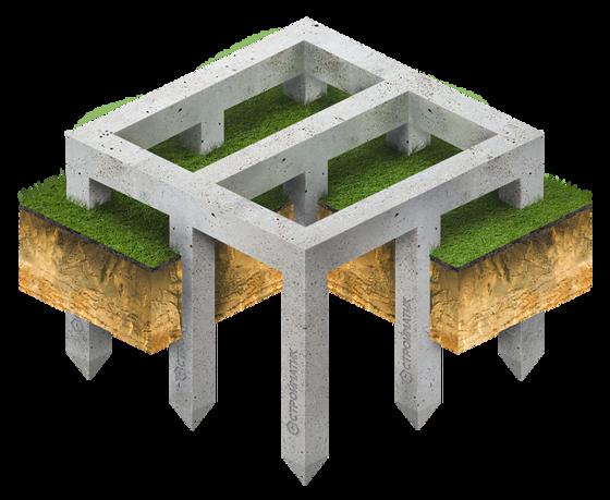 Свайный фундамент с ростверком
