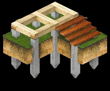 Фундамент террасы и крыльца
