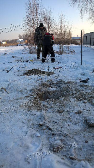 Фундамент на забивных ж/б сваях для каркасного дома в СНТ Зеленый мыс, Челябинск от компании Стройматик