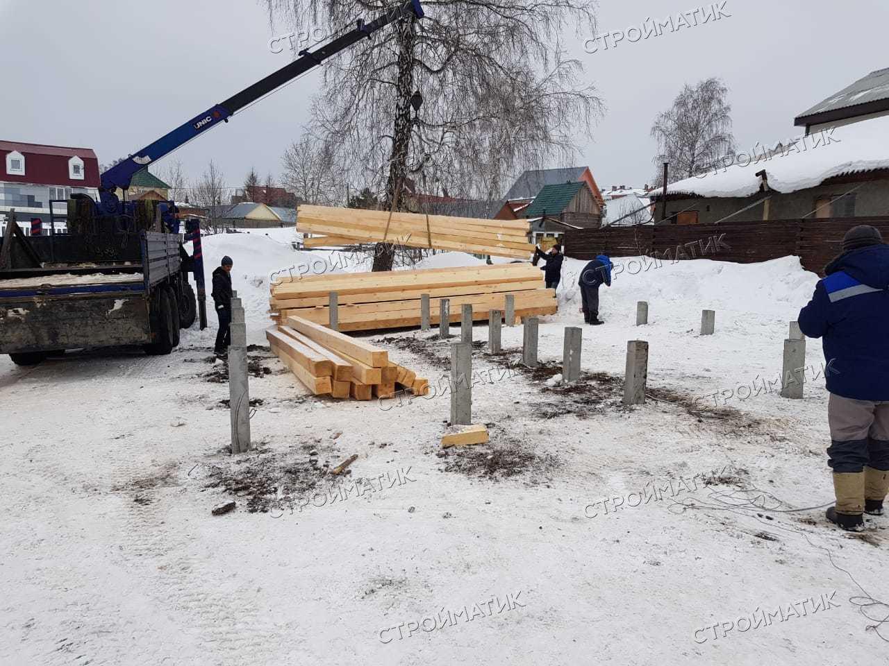 Фундамент для брусового дома в посёлке Зональная станция, Томской области