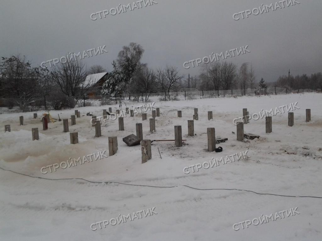 Фундамент для каркасного дома на забивных ж/б сваях в деревне Еремейцево Ярославской области от компании Стройматик