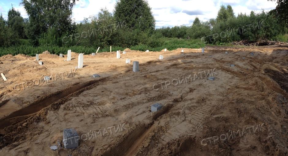 Фундамент для дом из SIP-панелей в Кировской области - Компания Стройматик