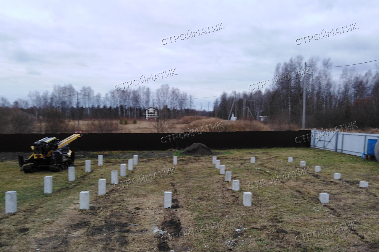 Свайное поле под ростверковый фундамент в селе Корнилово, Томской области
