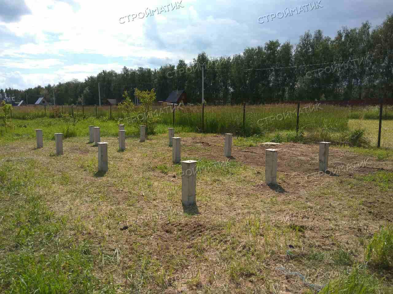 Фундамент для дома на ж/б сваях в селе Мячково Московской области от компании Стройматик