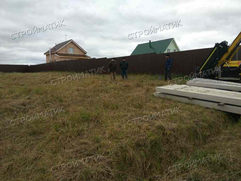 Фундамент на забивных ж/б сваях для деревянного дома деревня Ахтырка на Ярославском шоссе от компании Стройматик