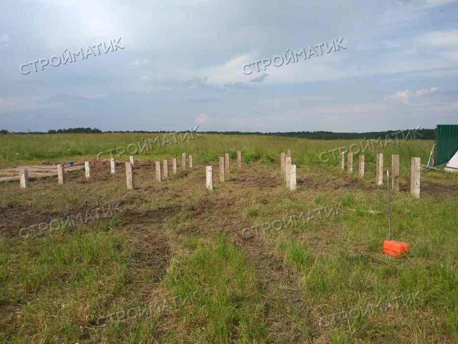 Фундамент на ж/б сваях для дома во Владимирской области д. Карелы от компании Стройматик