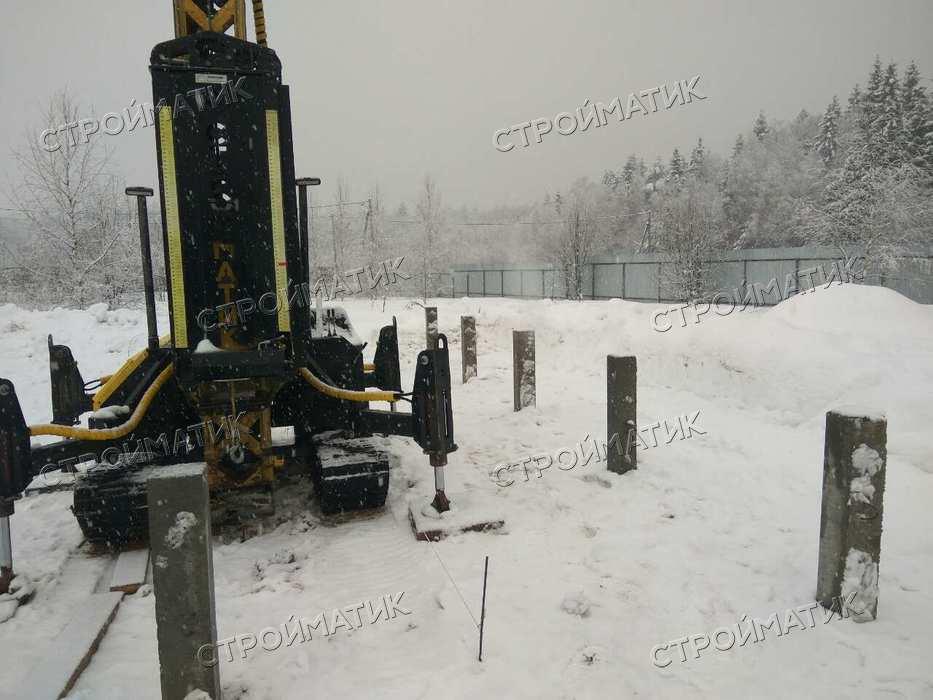 Фундамент на забивных ж/б сваях для дома из бруса в деревне Брехово Московской области от компании Стройматик