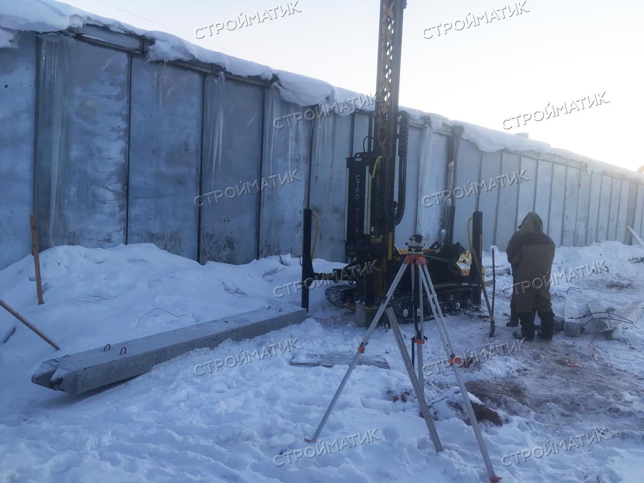 Фундамент на забивных ж/б сваях для складского помещения в Ижевске
