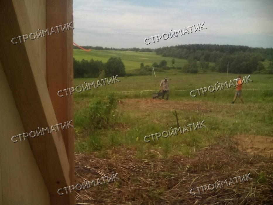 Фундамент на забивных ж/б сваях для каркасного дома в деревне Мотовилово Московской области от компании Стройматик