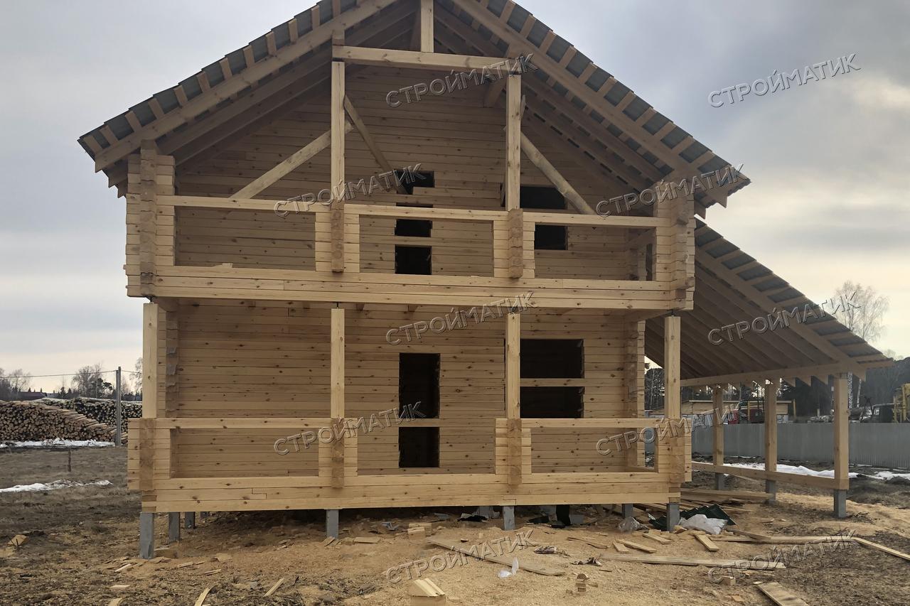 Фундамент двухэтажного дома в селе Зоркальцево