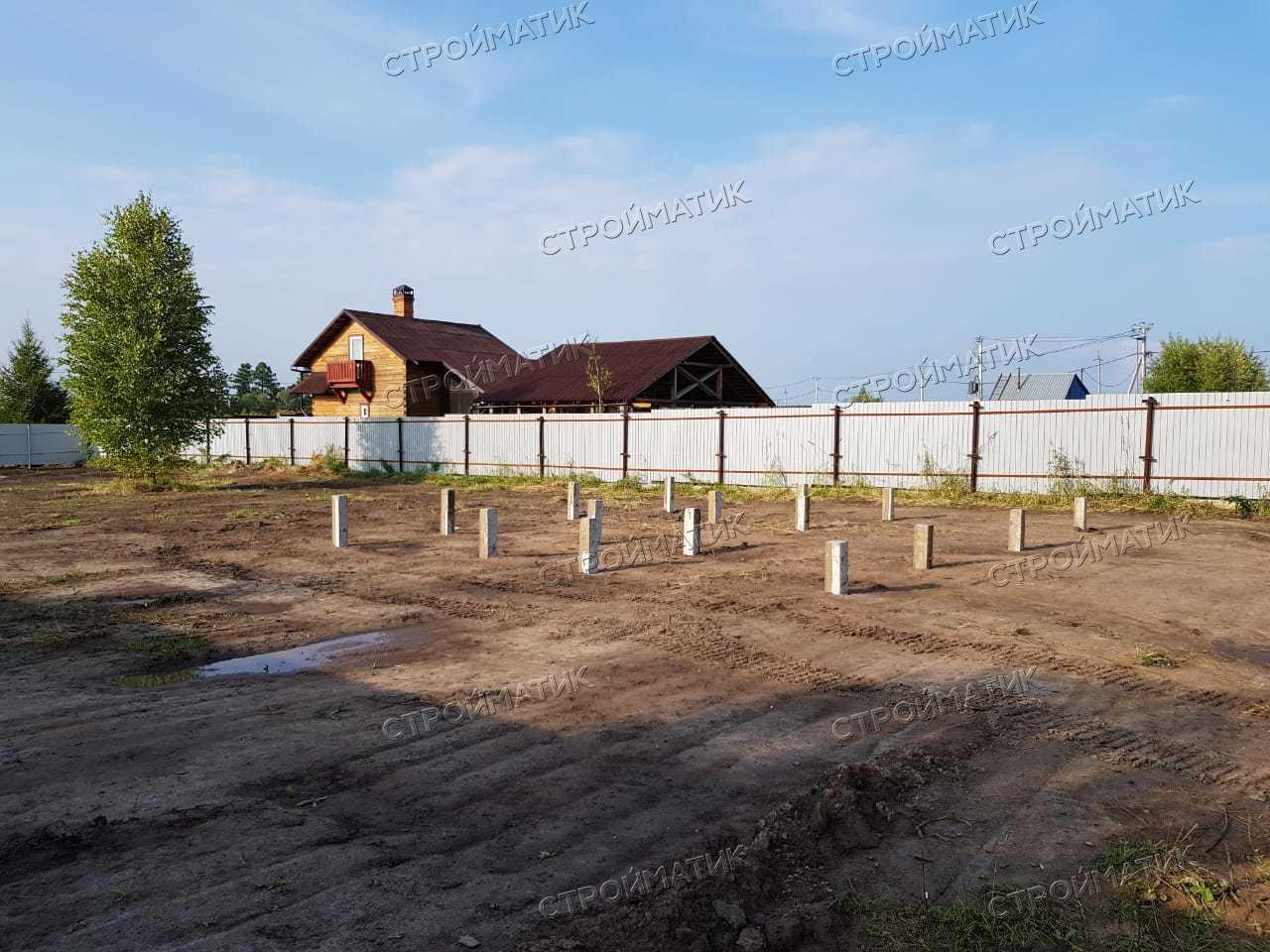 Фундамент двухэтажного дома из бруса в г. Томск, микрорайон Каменка