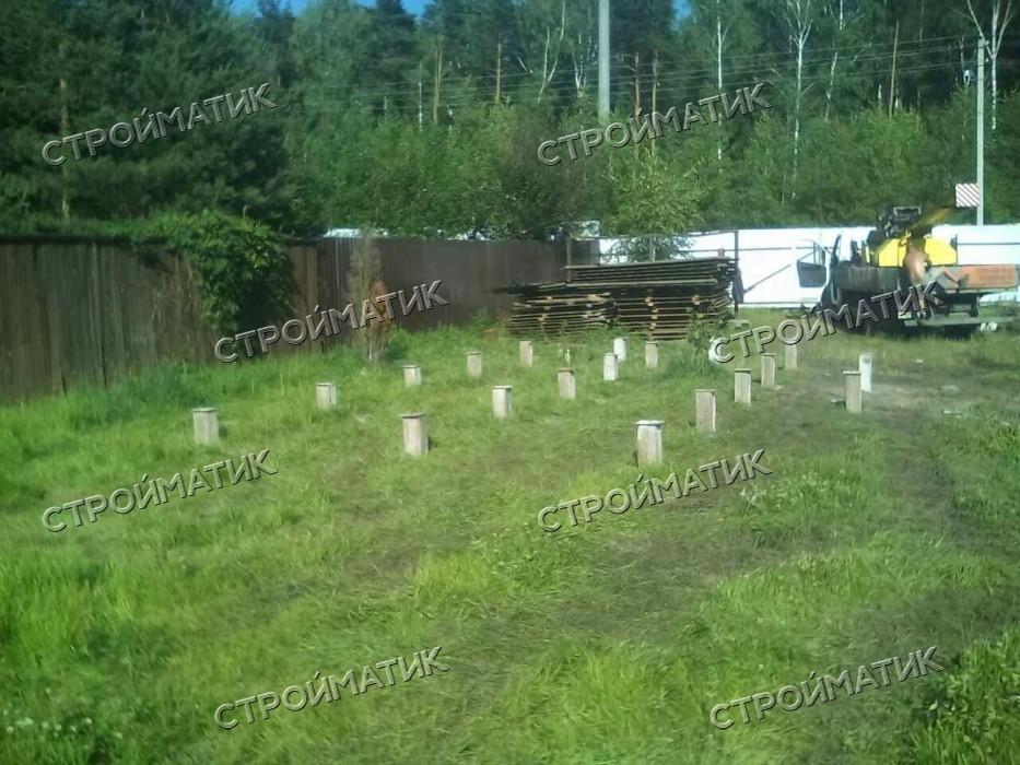 Фундамент для дома в селе Кудиново Ногинского района Московской области от компании Стройматик
