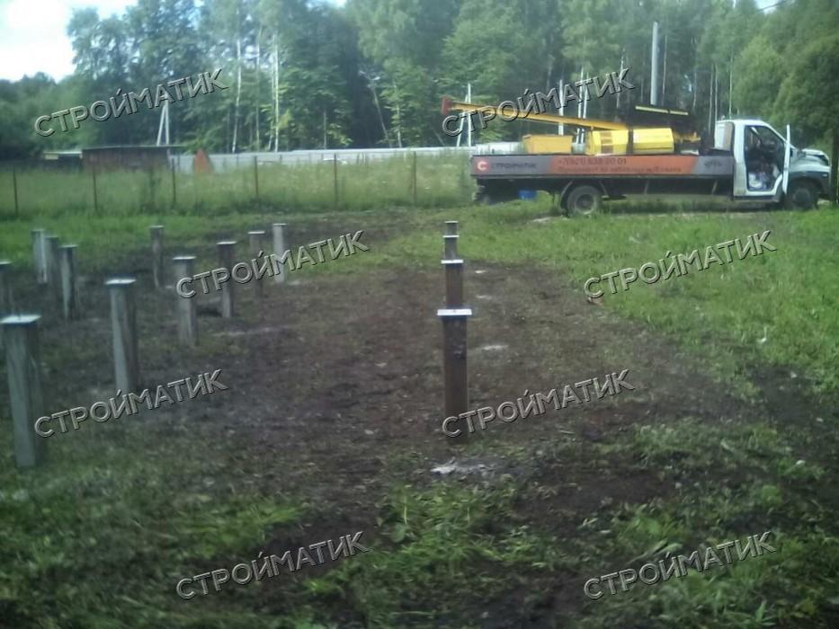 Фундамент под дом в ДНП Пряники Ясногорского района Тульской области от компании Стройматик