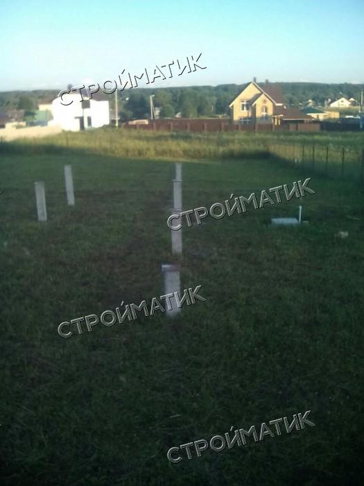 Фундамент на забивных ж/б свах для дома из бруса в деревне Ротманово Калужской области от компании Стройматик