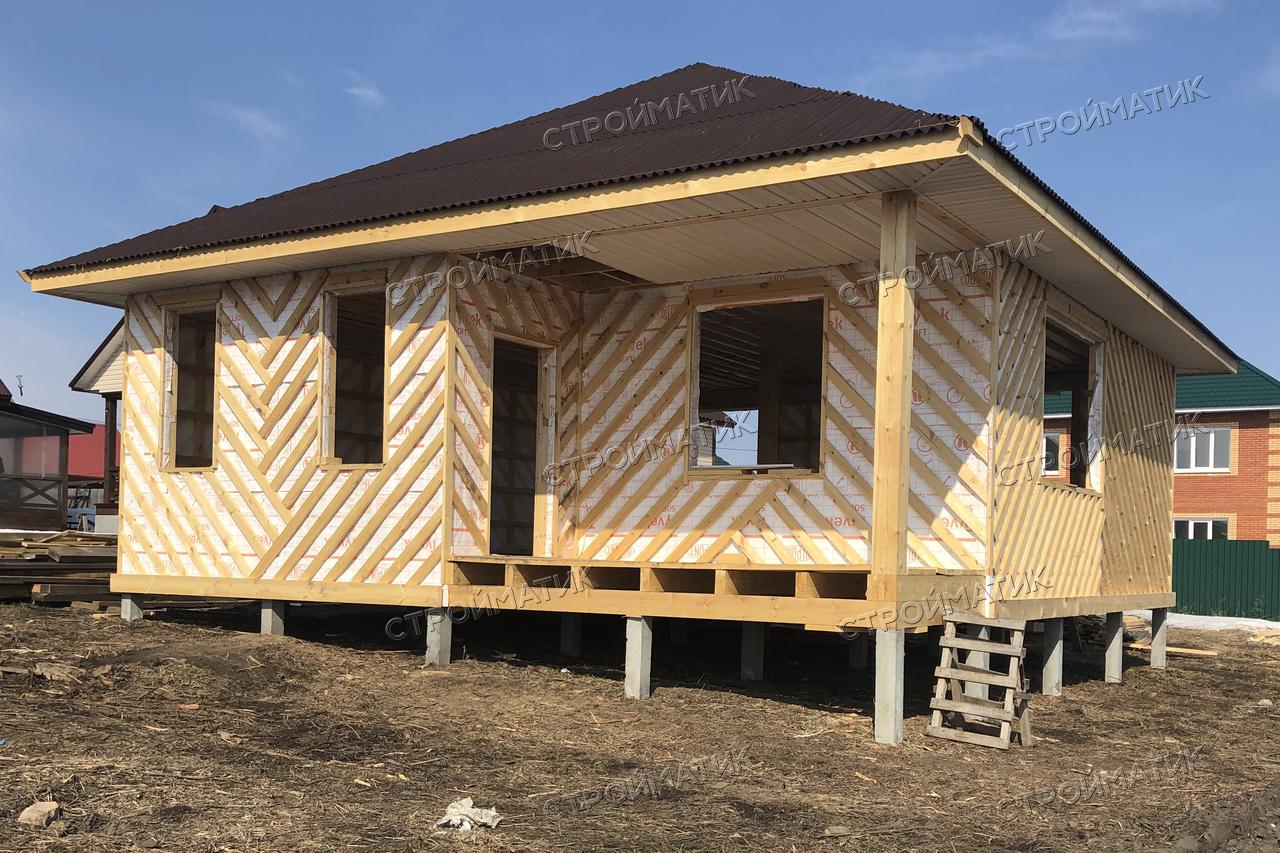 Свайный фундамент каркасного дома