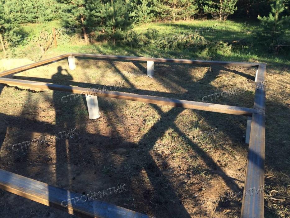 Фундамент на забивных ж/б сваях для бани из бруса в деревне Стёпаново Вологодской области от  компании Стройматик