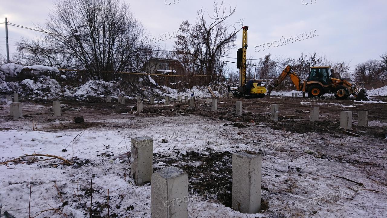 Фундамент на забивных ж/б сваях для промышленного объекта с административно-бытовым комплексом в городе Липецк от компании Стройматик