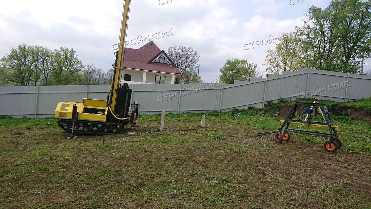 Фундамент под дом на склоне с. Каменка Задонский район