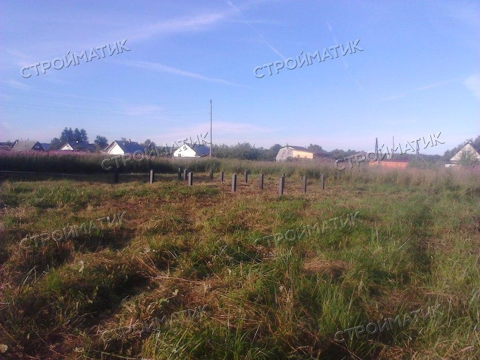 Фундамент на ж/б сваях для каркасного дома в деревне Суйсарь, Республика Карелия от компании Стройматик