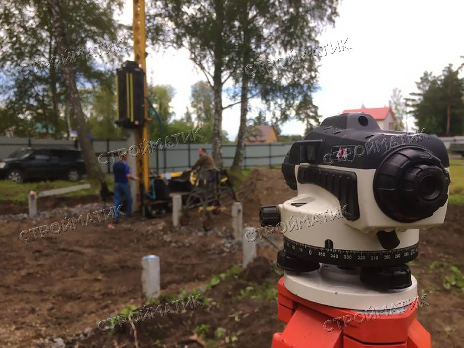 Фундамент на забивных ж/б сваях для дома из бруса в Томске от компании Стройматик