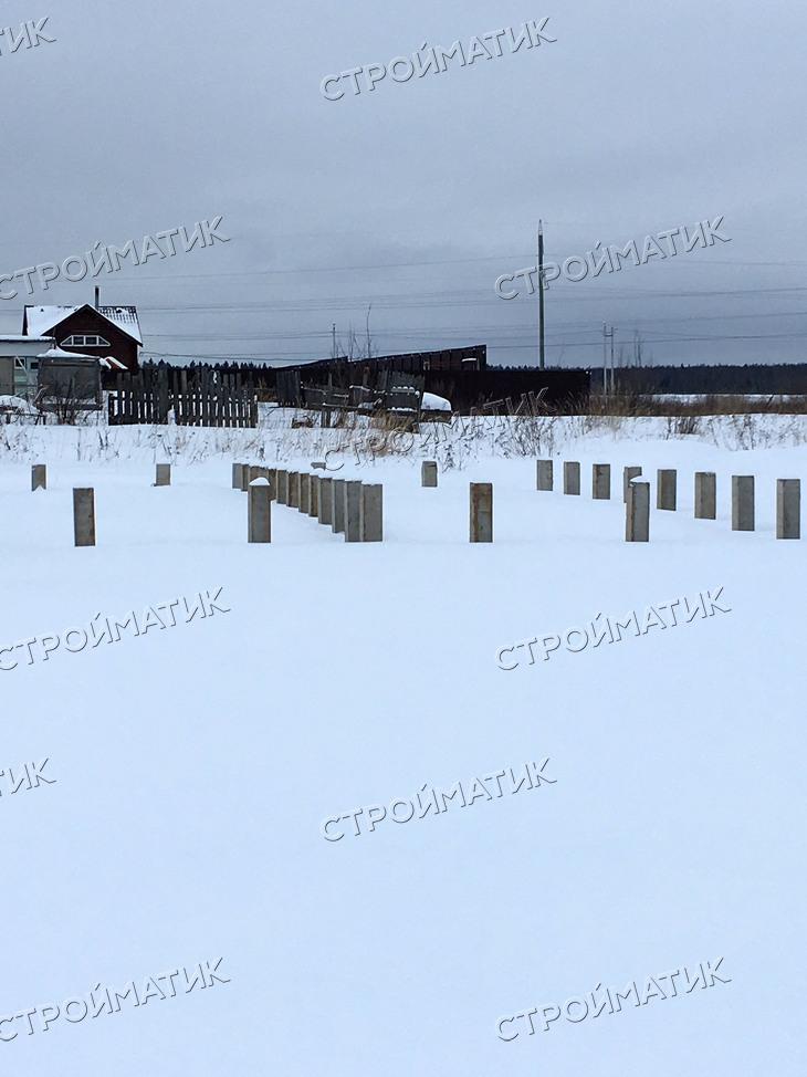 Фундамент на забивных ж/б сваях для дома из газобетона в городе Иваново от компании Стройматик