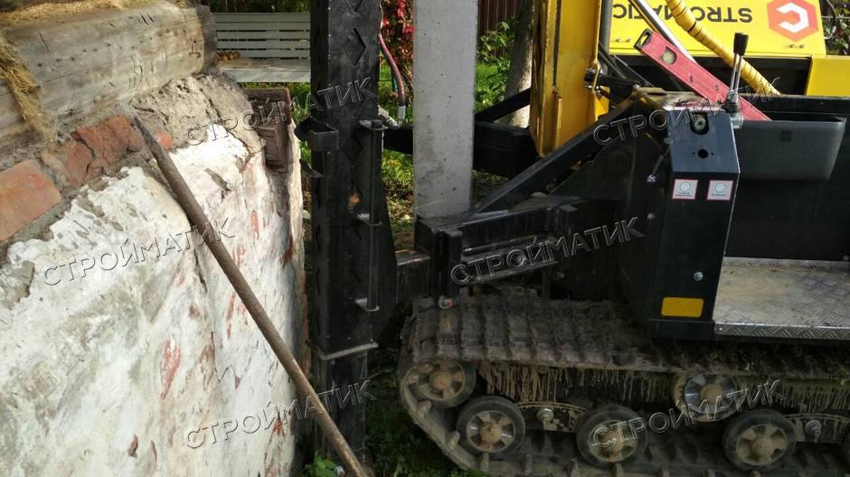 Фундамент на забивных ж/б сваях для дома в поселке Понтонный Ленинградской области от компании Стройматик