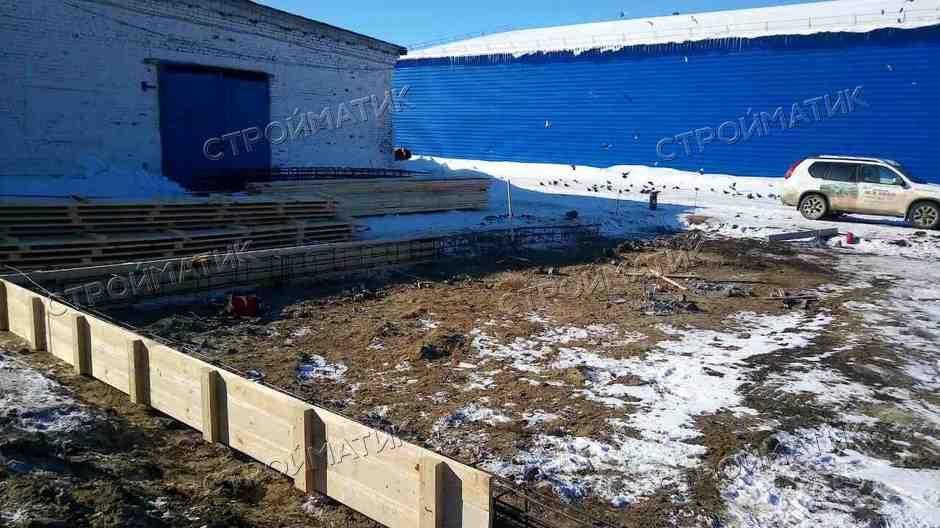 Фундамент под промышленное здание на забивных ж/б сваях в Курске от компании Стройматик