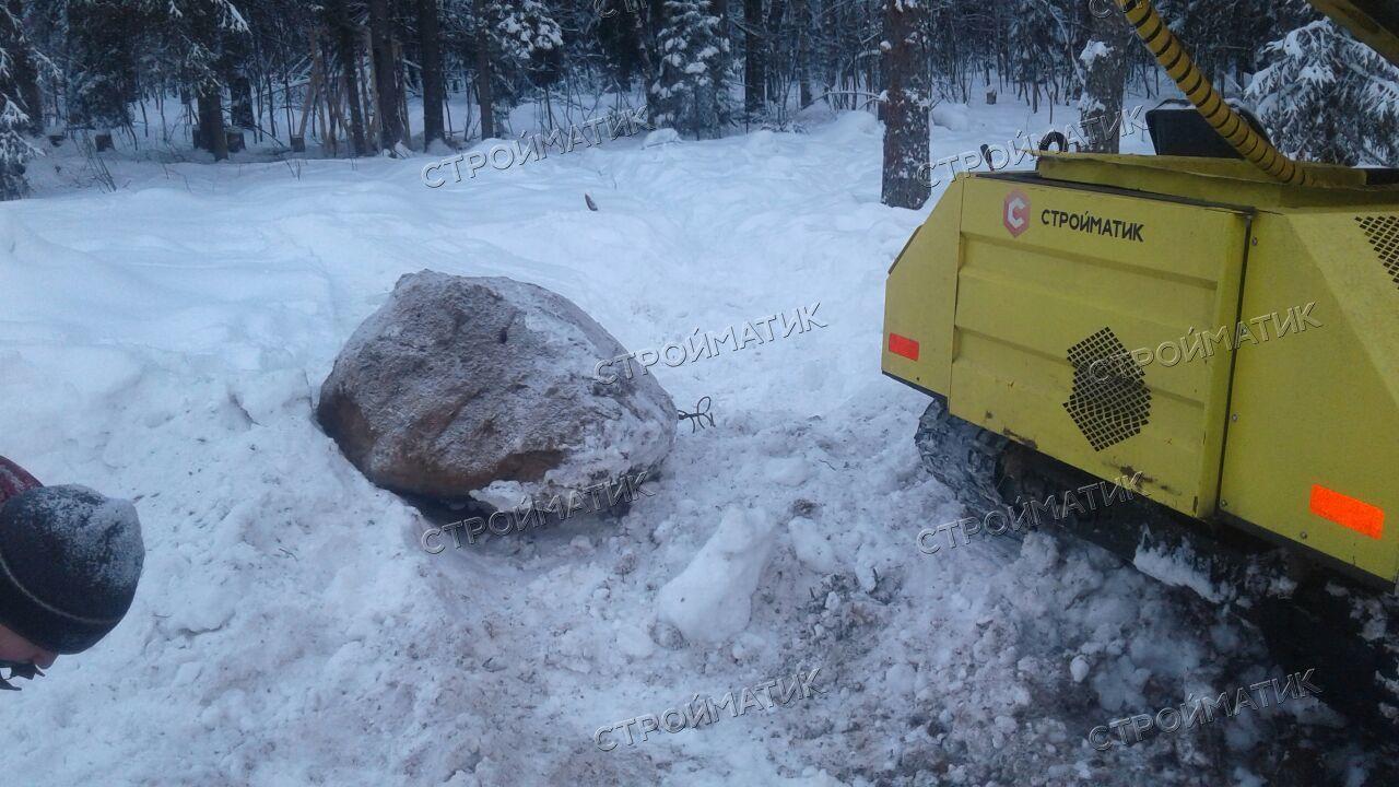 Фундамент на забивных ж/б сваях для дома в коттеджном поселке miniLAHTI в Ленинградской области от компании Стройматик