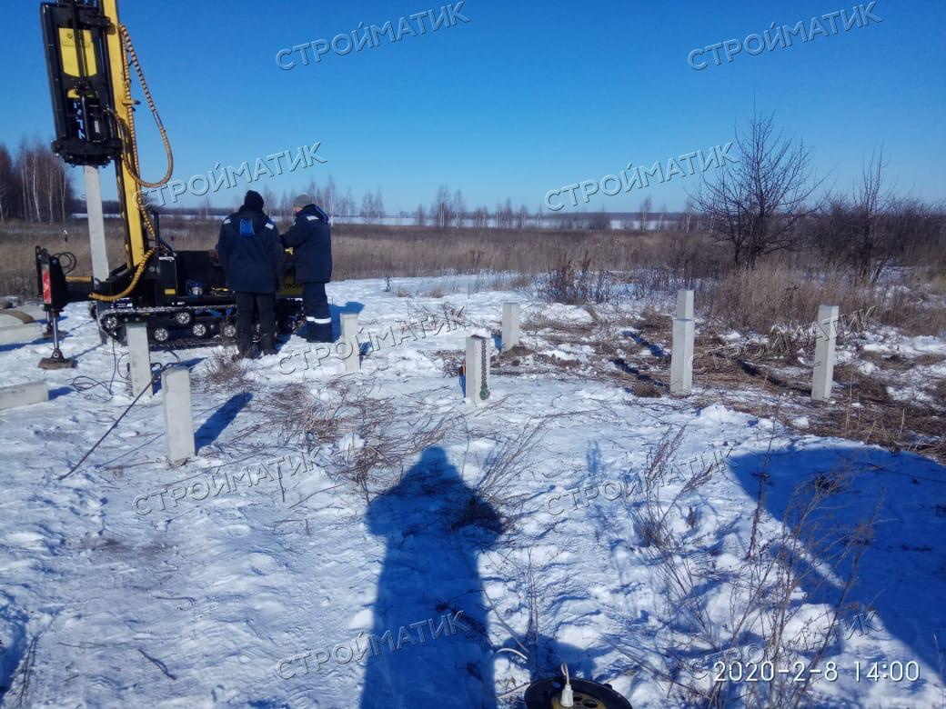 Свайный жб фундамент в д. Васильевка, Лебедянский район, Липецкой области