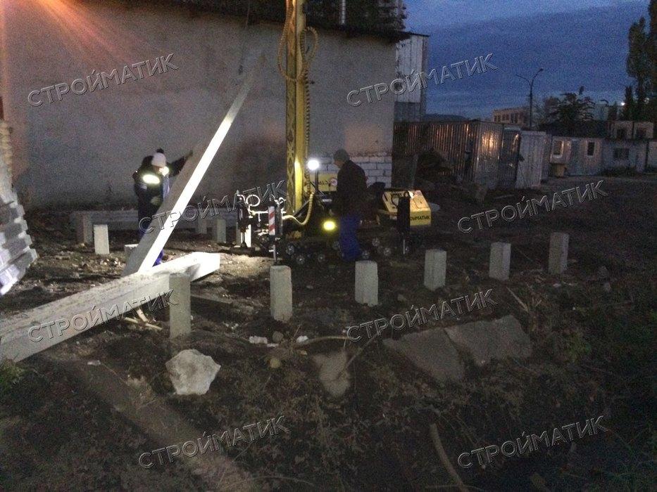 Фундамент на ж/б сваях для подстанции из кирпича в Липецке от компании Стройматик