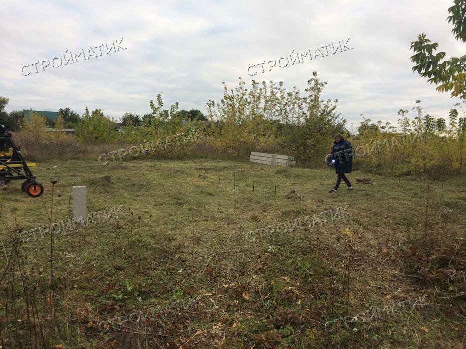 Фундамент на ж/б сваях для кирпичного дома в Липецкой области от компании Стройматик