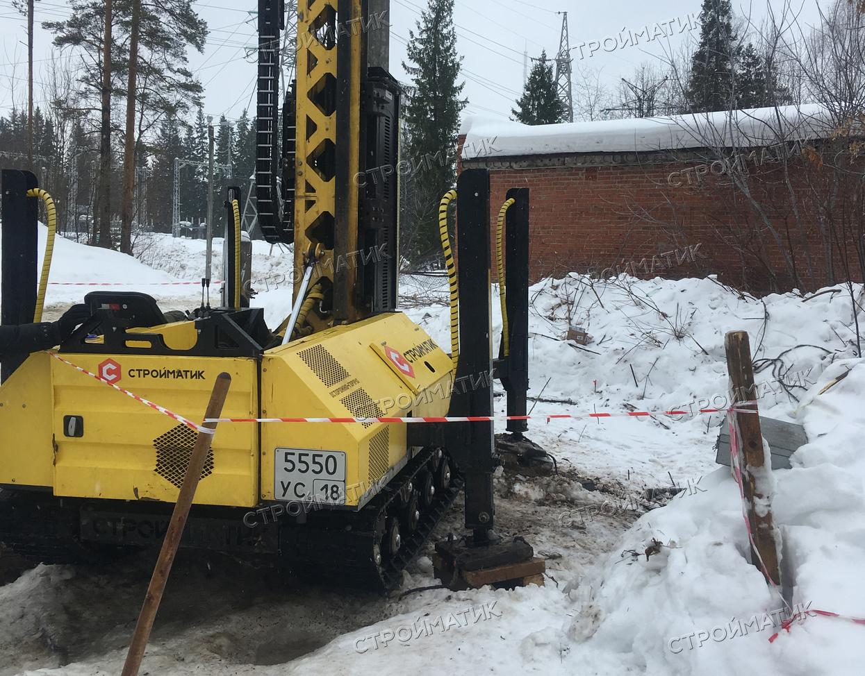 Фундамент под опоры осветительных мачт в Ижевске