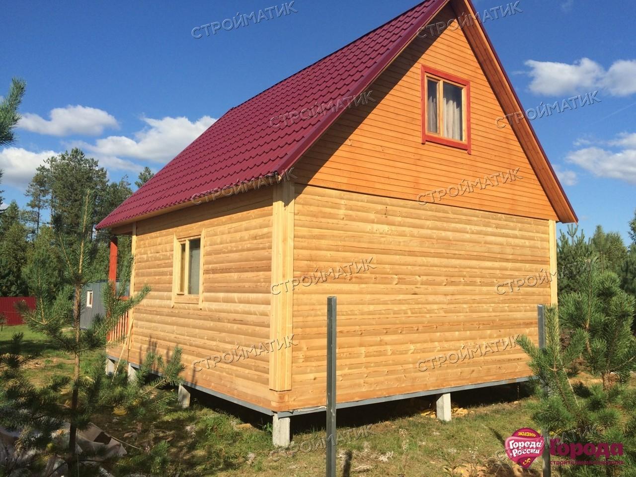 Фундамент для бани на забивных ж/б сваях в деревне Стёпаново от компании Стройматик