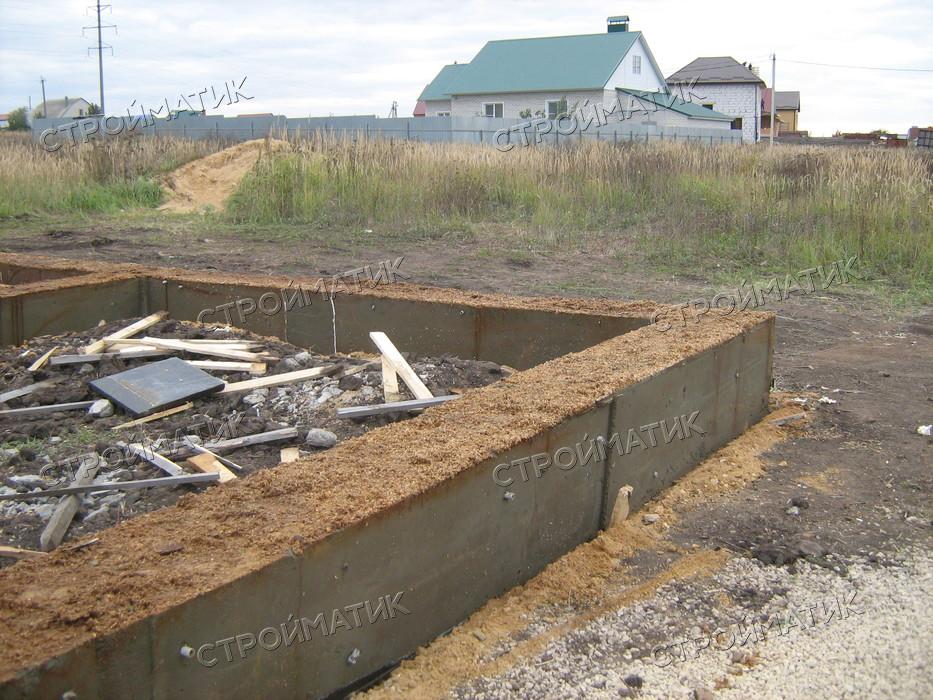Фундамент на забивных ж/б сваях для дома из газобетона в Задонске Липецкой области от компании Стройматик