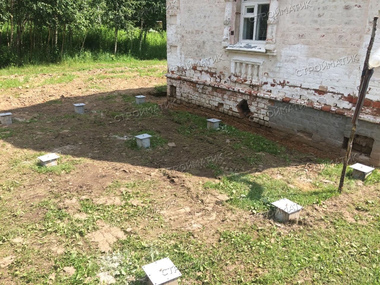 Фундамент на забивных ж/б сваях для каркасного дома в Костроме от компании Стройматик