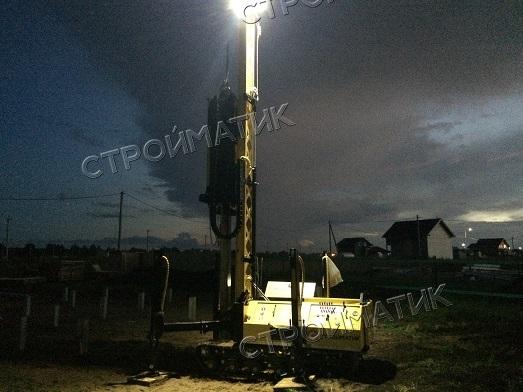 Фундамент на забивных ж/б сваях для дома из бруса в поселке Первый Костромской области от компании Стройматик