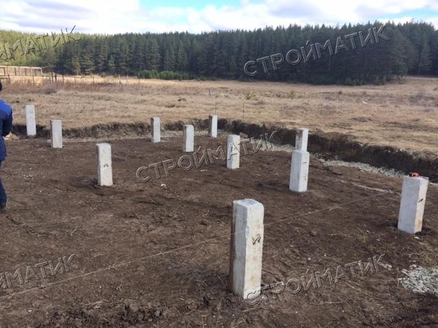 Свайный ЖБ фундамент в п. Бобровский