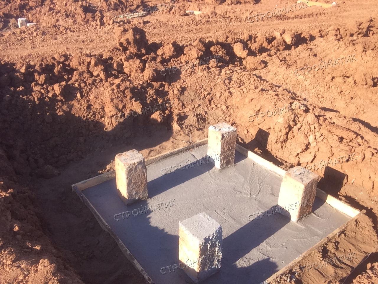 Фундамент на забивных ж/б сваях для молочно-товарной фермы в деревне Новая Бия, Удмуртская республика от компании Стройматик