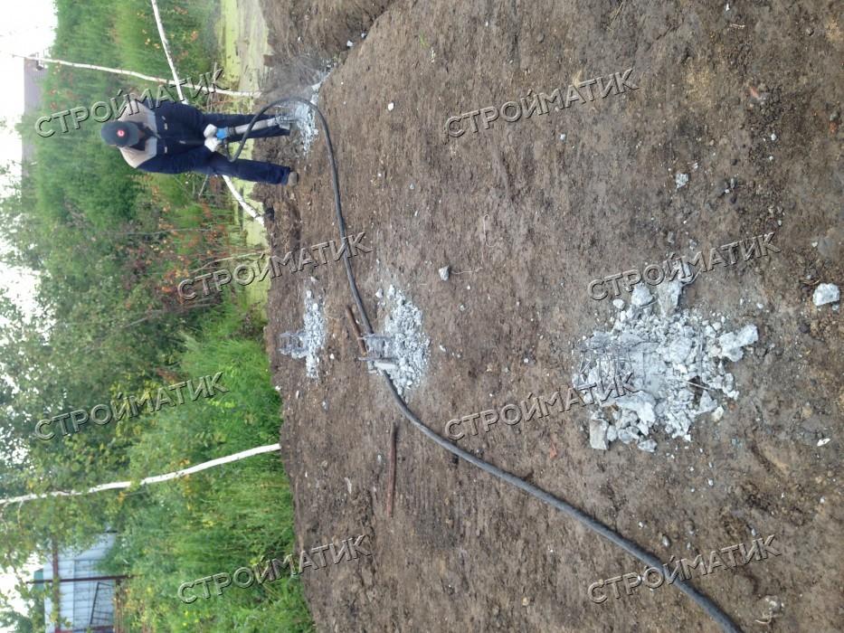 Фундамент на забивных ж/б сваях для бани из бруса в городе Обь Новосибирской области от компании Стройматик