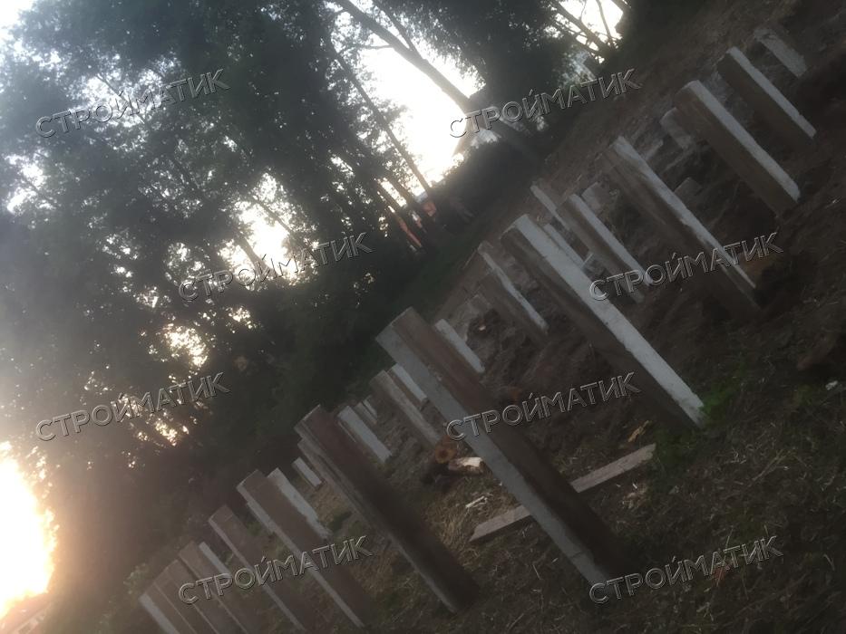 Фундамент на склоне на ж/б сваях в деревне Поляны Краснопахорское поселение, Москва от компании Стройматик