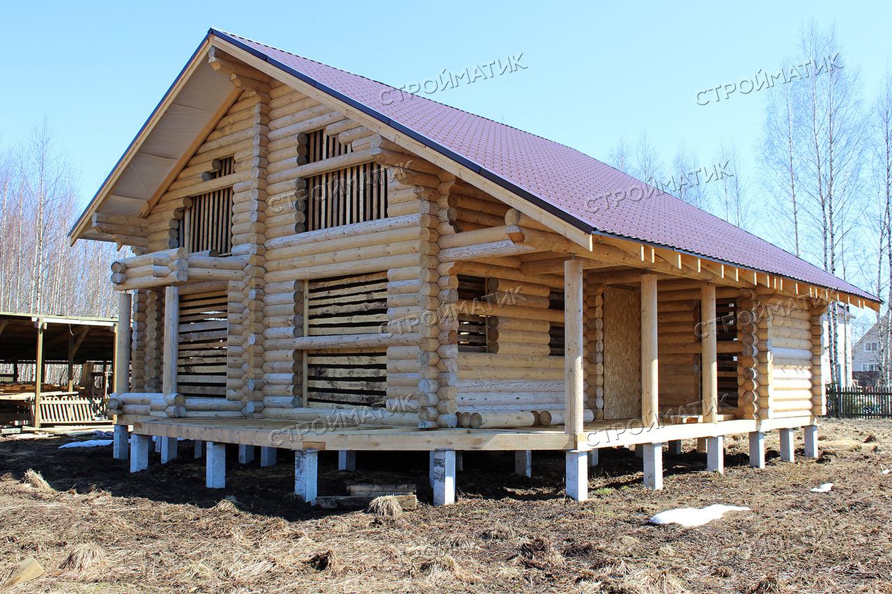 Фундамент для дома на забивных 5-ти метровых ж/б сваях в Ленинградской области от компании Стройматик