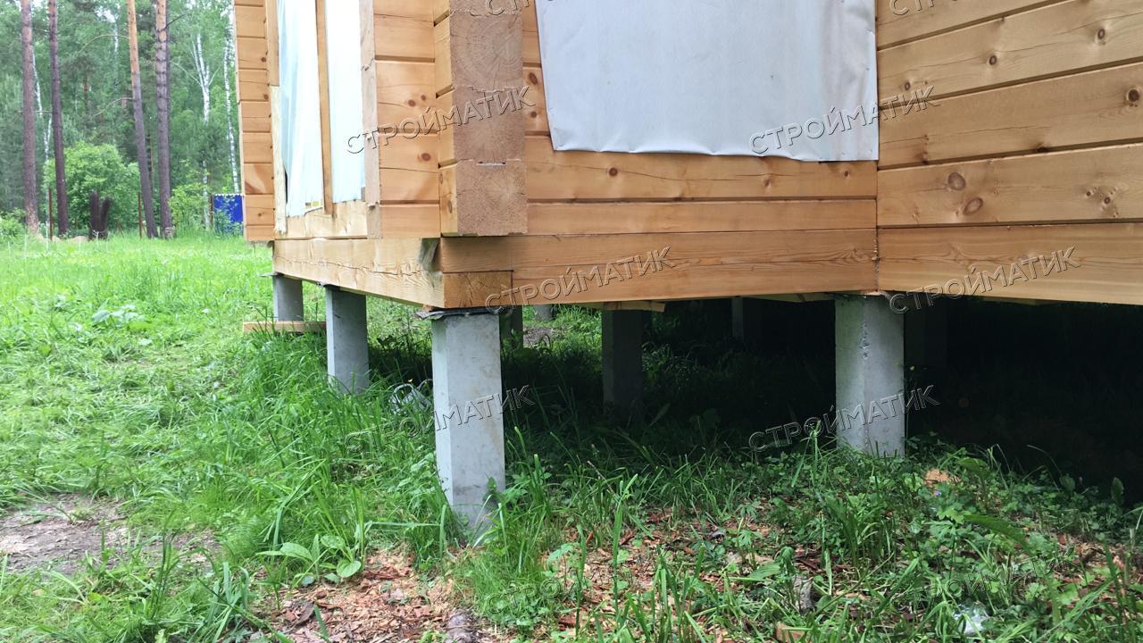 Свайный фундамент под жилой дом из бруса