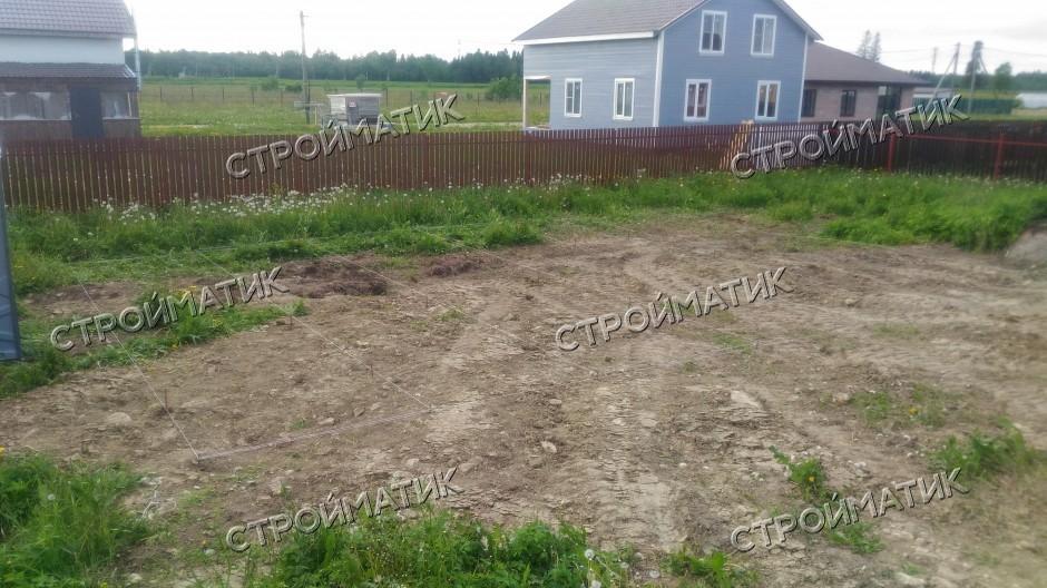 Фундамент на забивных ж/б сваях для каркасного дома в КП Долина Уюта Ленинградской области от компании Стройматик