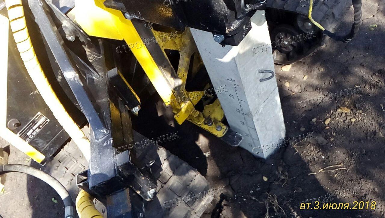 Фундамент на забивных ж/б сваях с бетонным ростверком для кирпичного дома в селе Елецкое Липецкой области от компании Стройматик