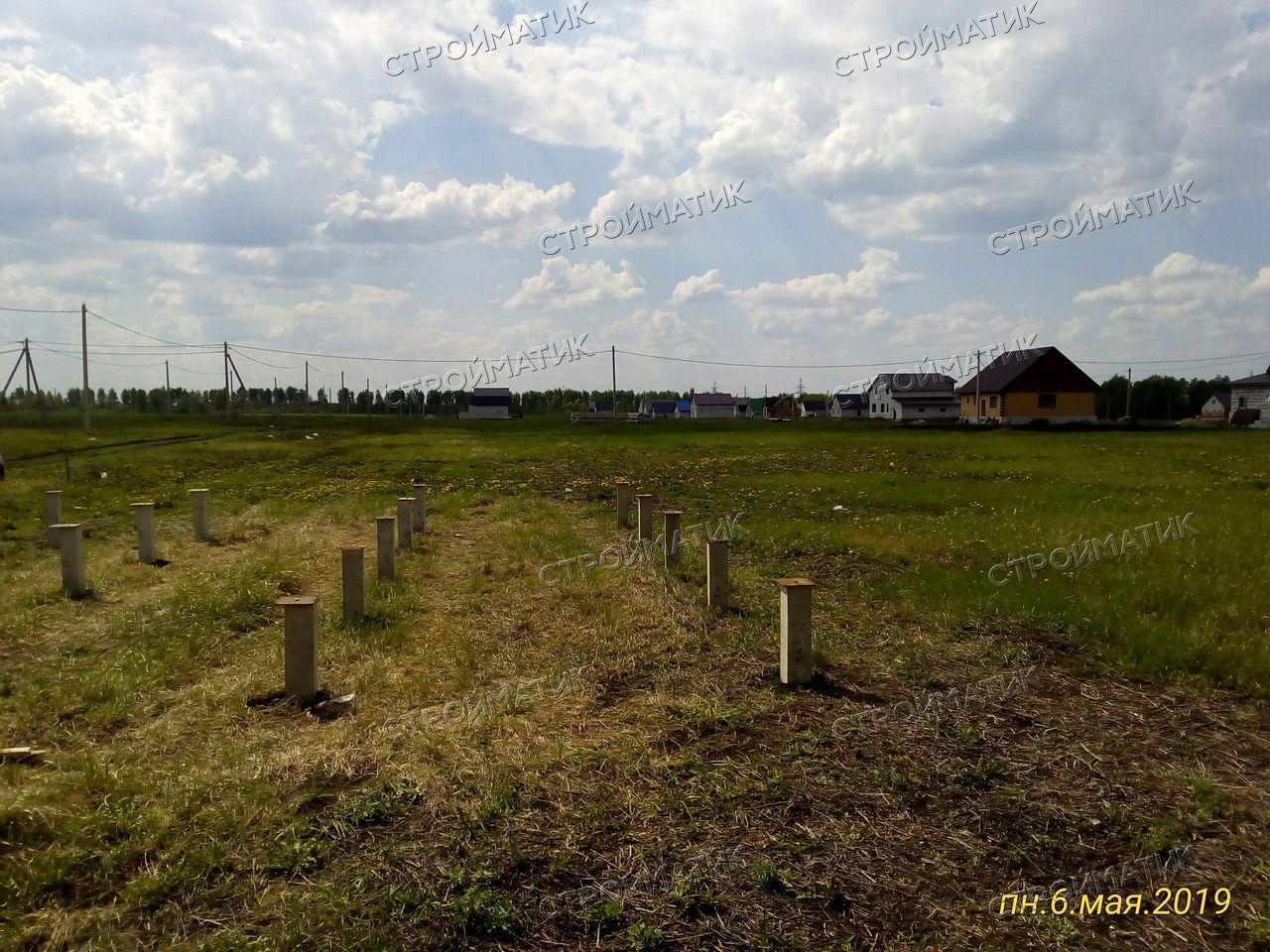 Фундамент под дом из бруса с. Кривополянье, Чаплыгинский район