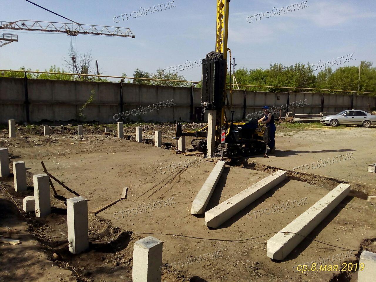 Фундамент под промышленное здание в посёлке Сырский рудник